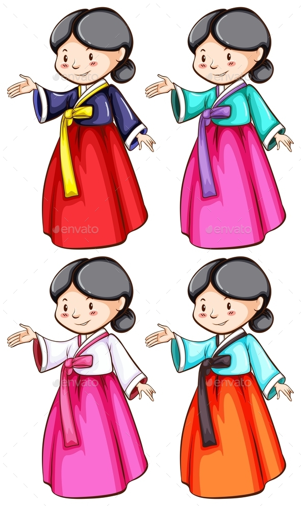 Females Wearing Asian Clothing - People Characters