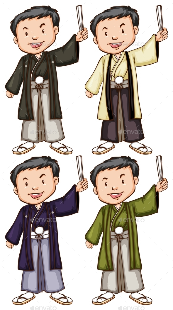 Men from Asia - People Characters
