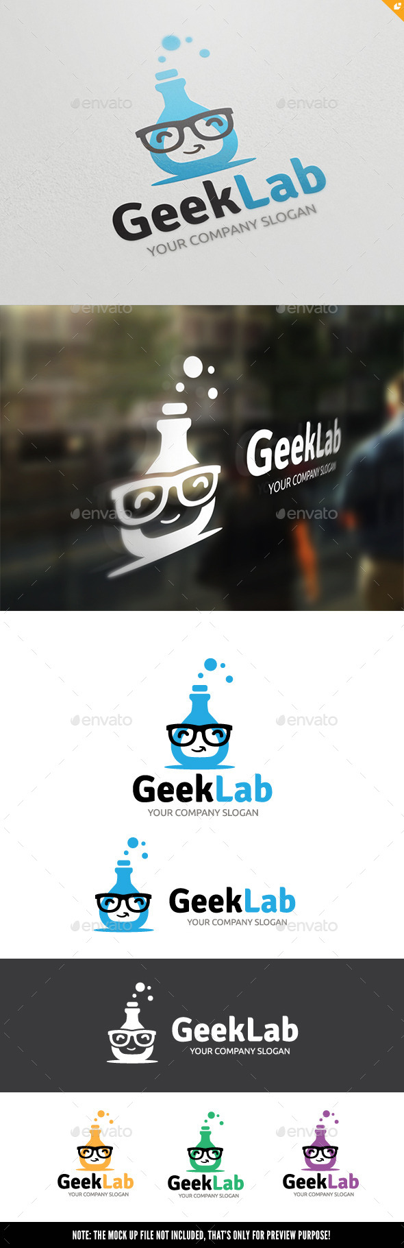Geek Lab - Objects Logo Templates