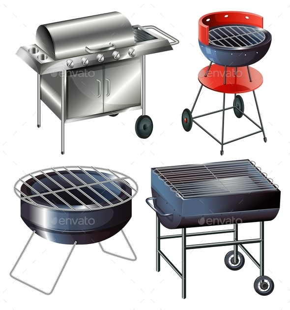 Grilling Sets - Man-made Objects Objects