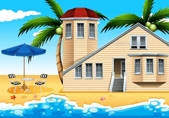 Vacation House at the Beach - Landscapes Nature