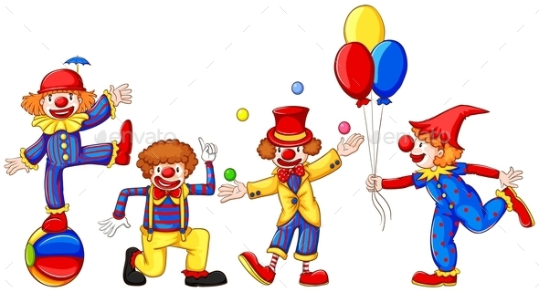 Colourful Clowns - People Characters