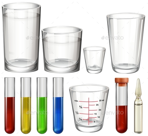 Tubes and Glasses - Man-made Objects Objects