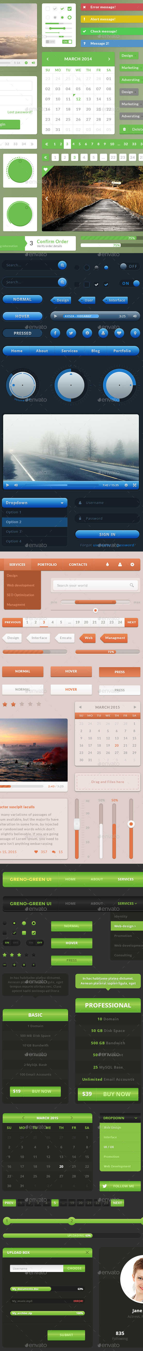 UI Web Elements Pack 2 - User Interfaces Web Elements