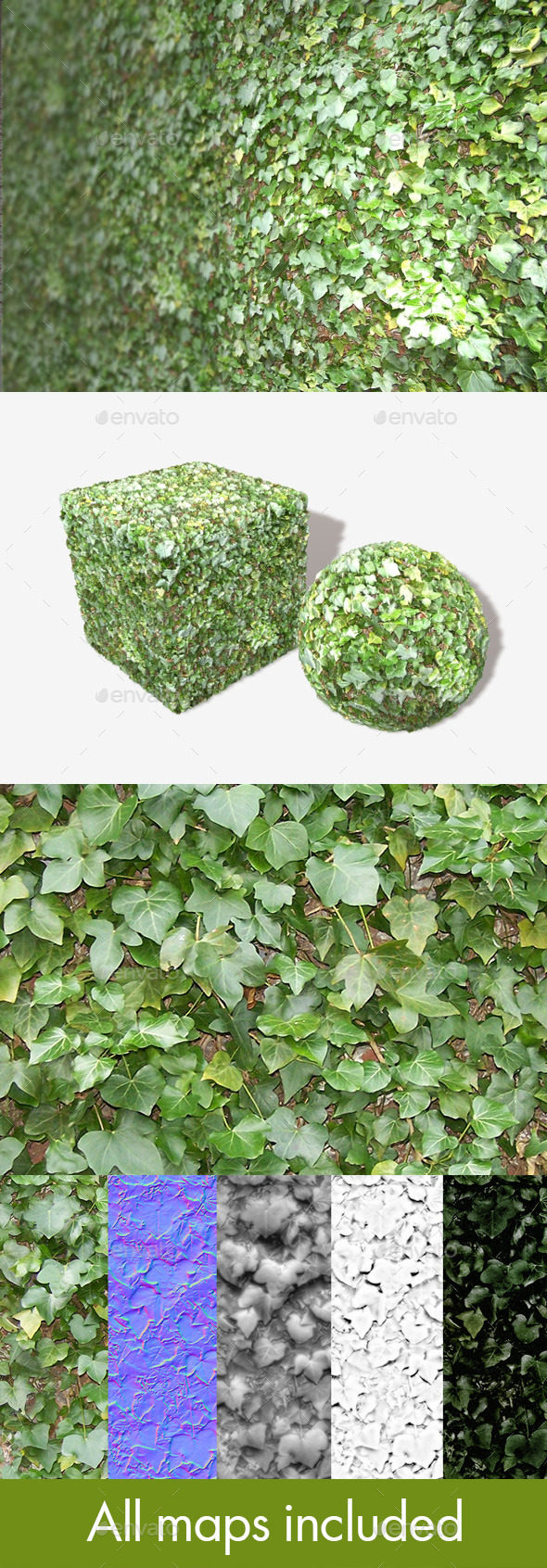 Ivy Wall Seamless Texture - 3DOcean Item for Sale
