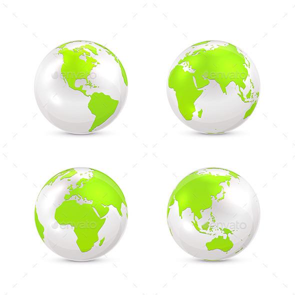White Earth Globe - Miscellaneous Vectors