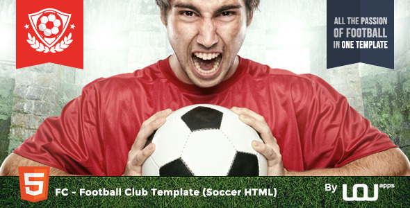 FC – Football Club Template (Soccer HTML)