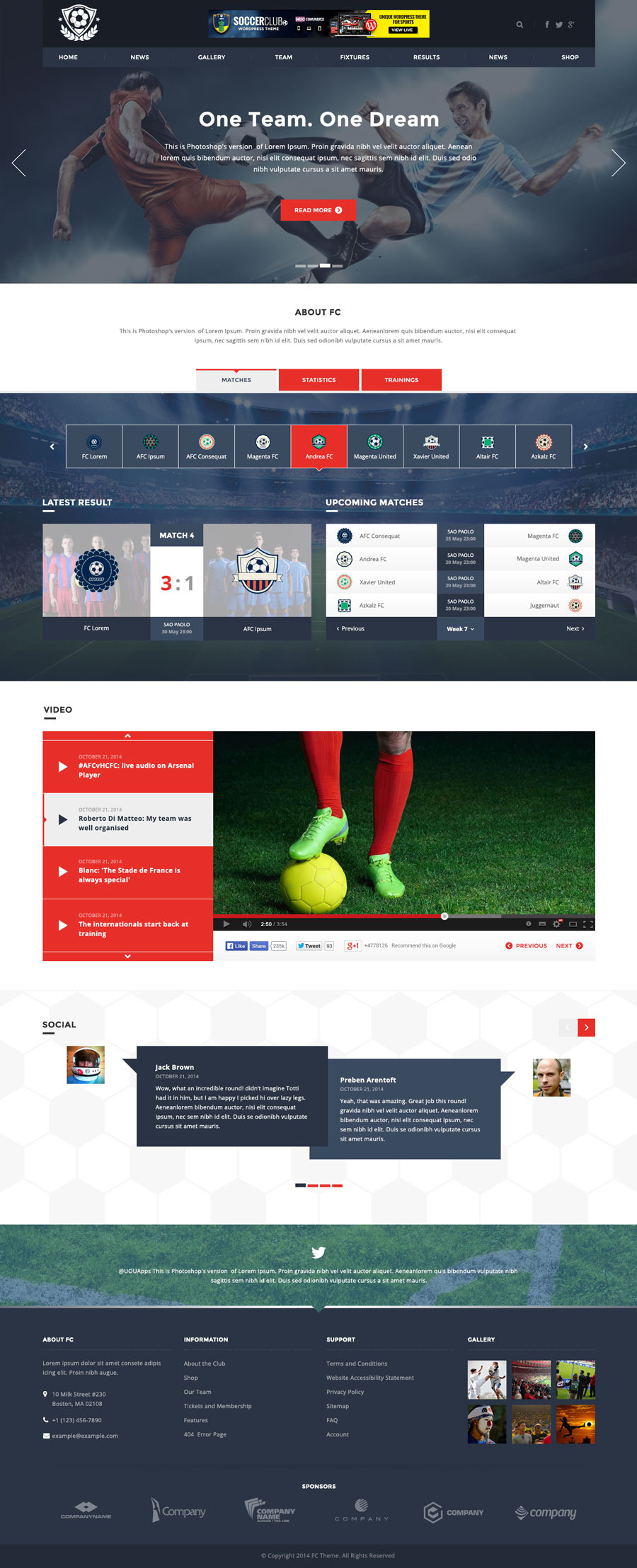 FC - Football Club Template (Soccer HTML) by DirectoryThemes ...