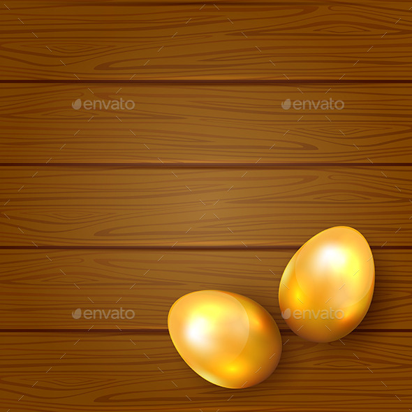 Two Golden Easter Eggs - Backgrounds Decorative