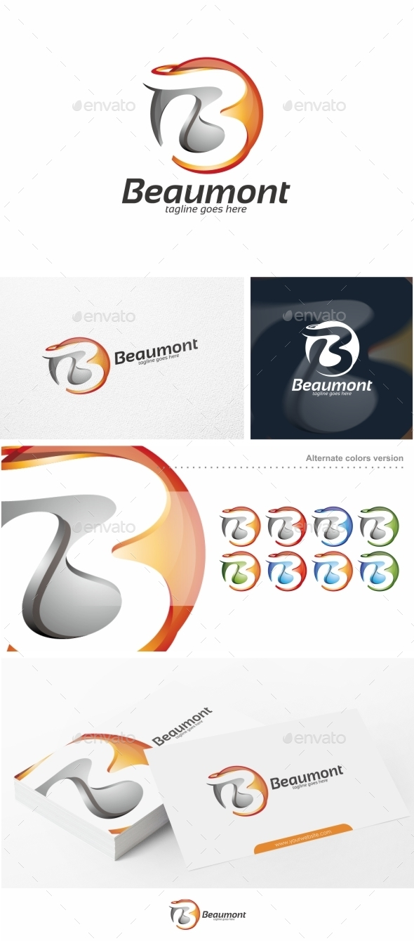 Beaumont / Abstract Letter B - Logo Template - Letters Logo Templates
