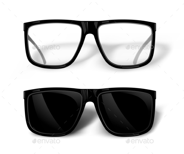 Black Glasses - Man-made Objects Objects