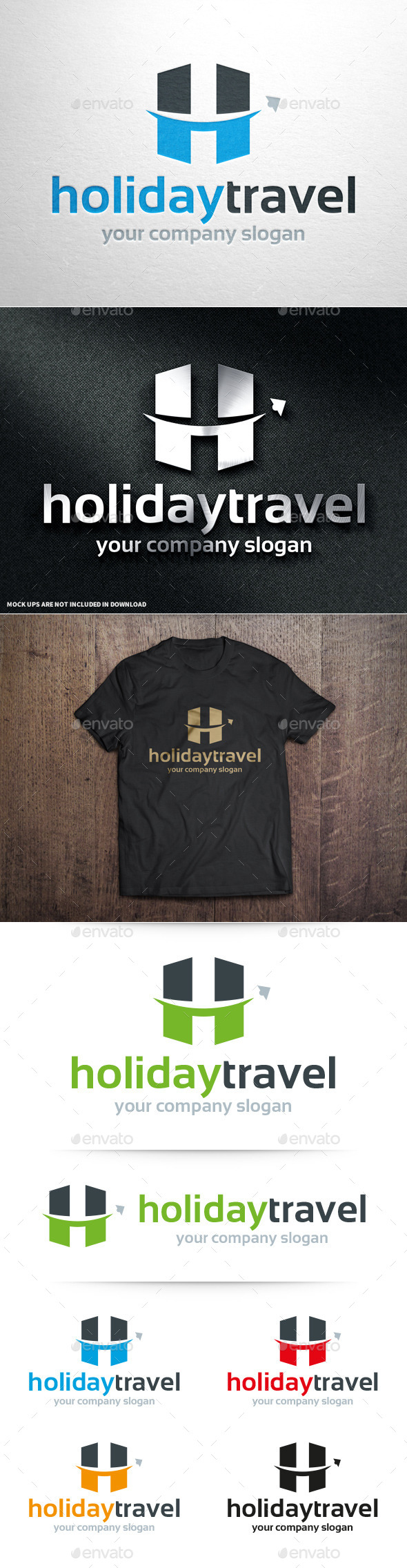 Holiday Travel - Letter H Logo - Letters Logo Templates