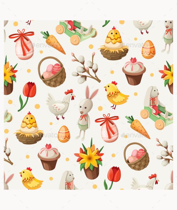 Easter Elements and Characters - Seasons/Holidays Conceptual