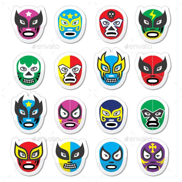 Lucha Libre Mexican Wrestling Masks  - Miscellaneous Conceptual
