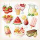 Set of Cold Sweet Summer Food and Snacks - GraphicRiver Item for Sale