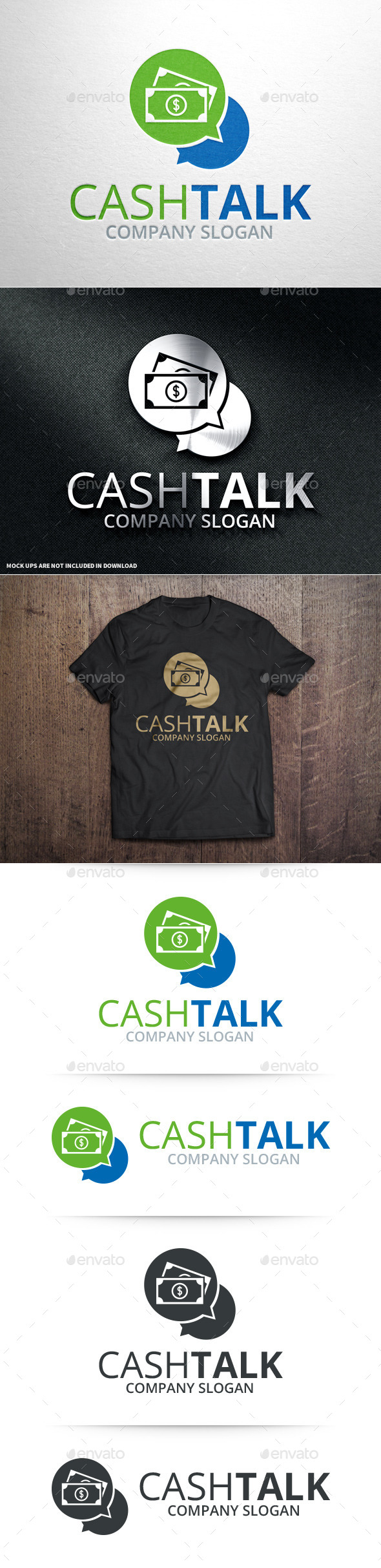 Cash Talk Logo Template - Objects Logo Templates