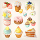 Colorful Food for Easter Party.  - GraphicRiver Item for Sale