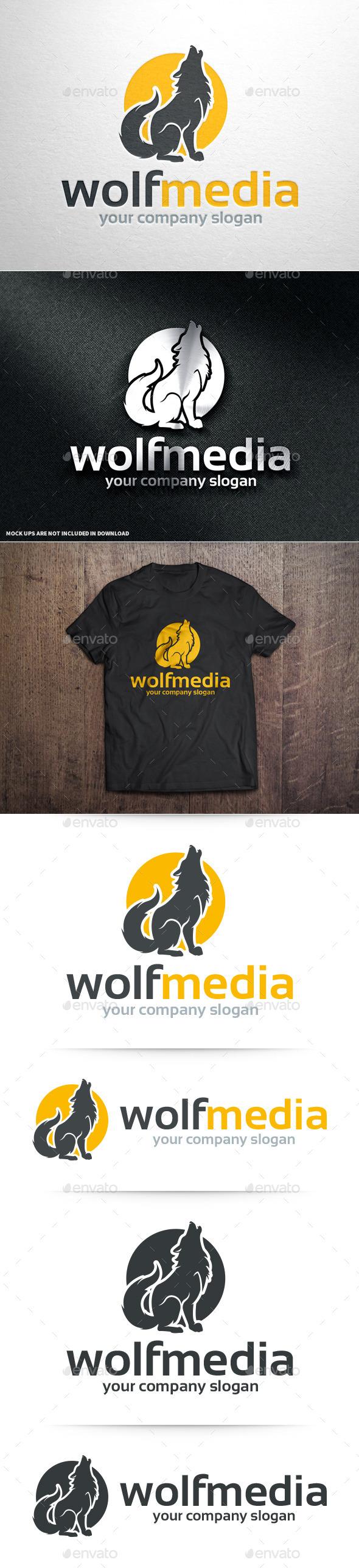 Wolf Media Logo Template - Animals Logo Templates