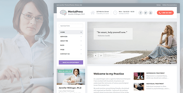 25+ Best Dental Care and Dentist WordPress Themes 2019 26
