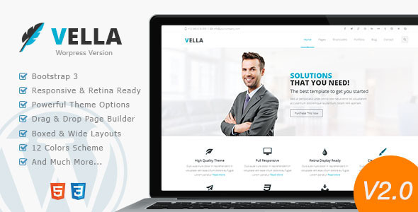 Vella – Retina Responsive Multi-Purpose Theme
