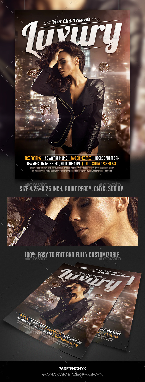 Luxury Party Flyer Template - Clubs & Parties Events