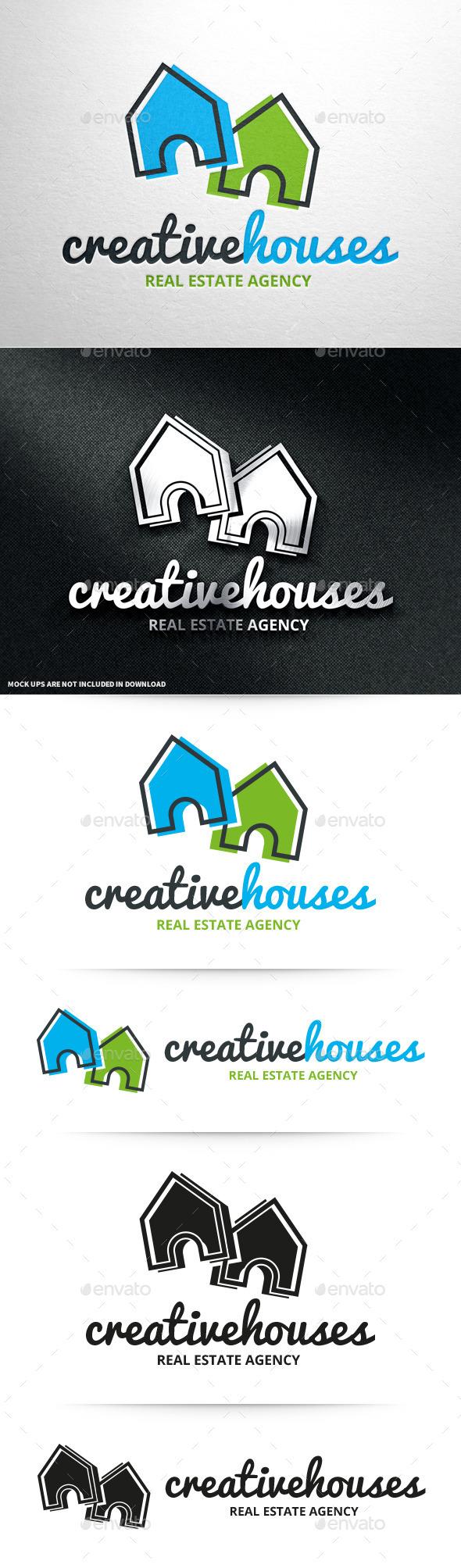 Creative Houses Logo Template - Buildings Logo Templates