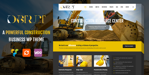 Construction, Building WordPress Theme – Konstruct - Business Corporate