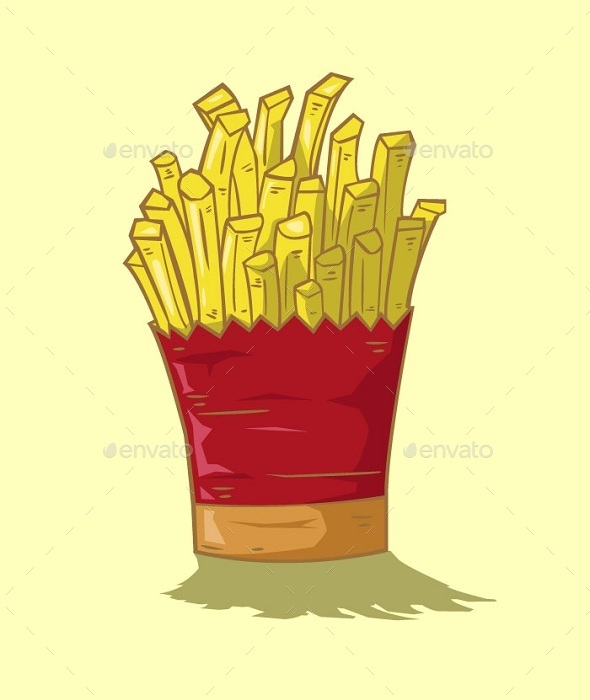French Fries Vector - Food Objects
