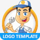 Repairman Vector Logo Template & Mascot - GraphicRiver Item for Sale