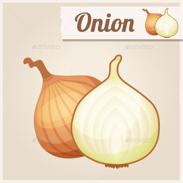 Detailed Icon. Onion. - Food Objects
