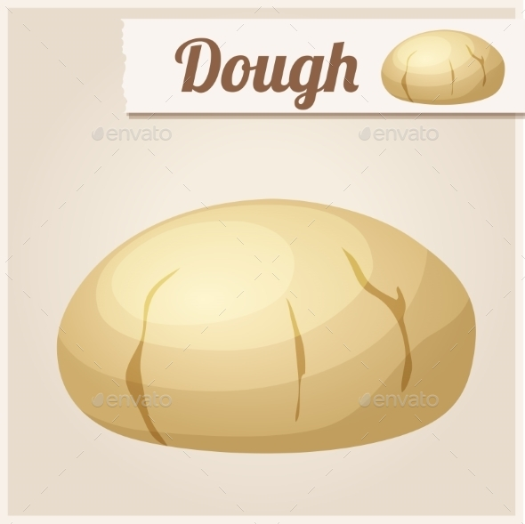 Dough. Detailed Vector Icon - Food Objects