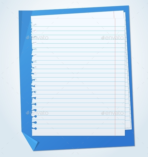 Paper Sheets with Lines  - Miscellaneous Vectors