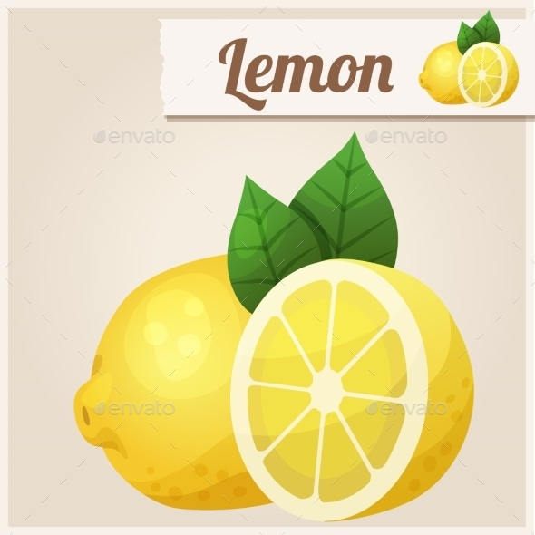Lemon. Detailed Vector Icon - Food Objects
