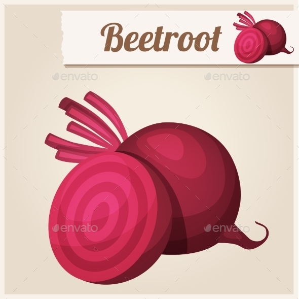 Beetroot. Detailed Vector Icon - Food Objects