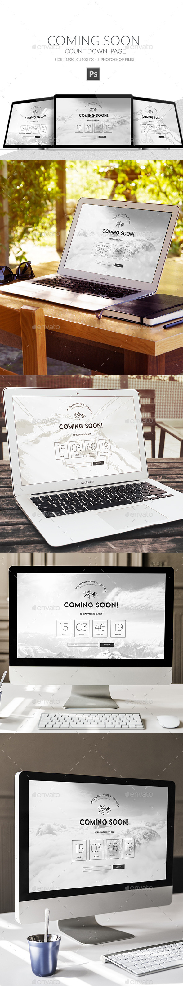 Launching Soon Page - 404 Pages Web Elements