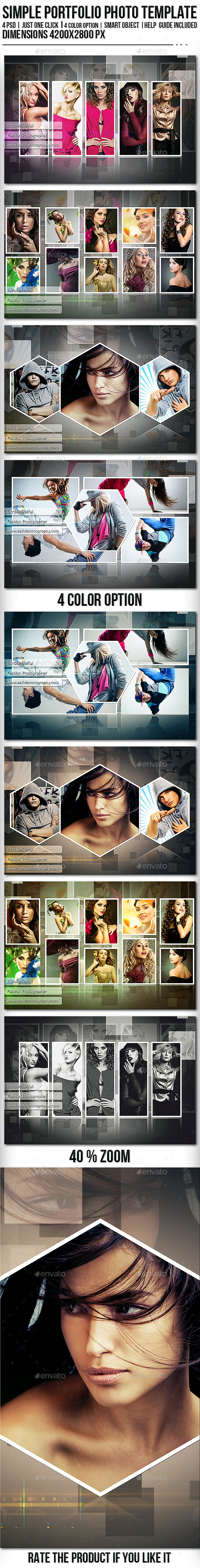 Simple Portfolio Photo Template - Photo Templates Graphics