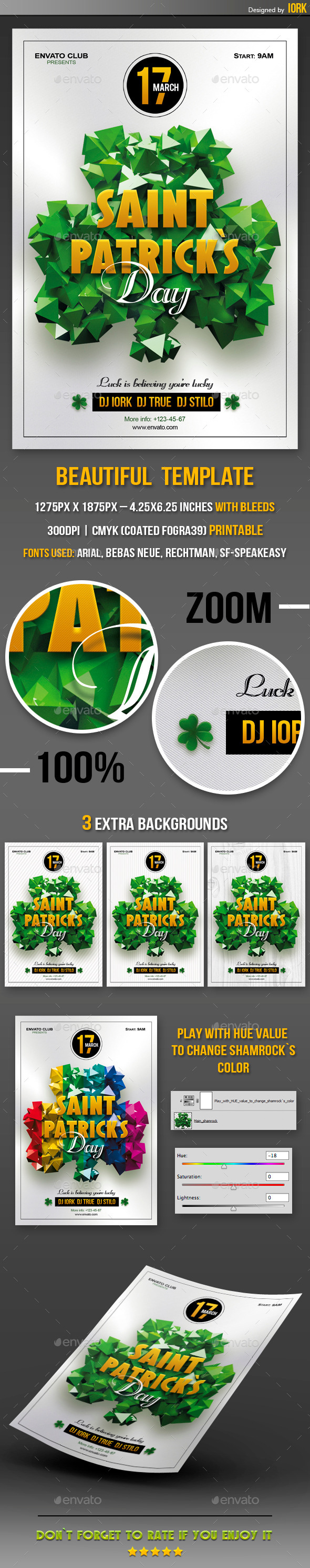 Saint Patrick`s Day Party Flyer - Events Flyers