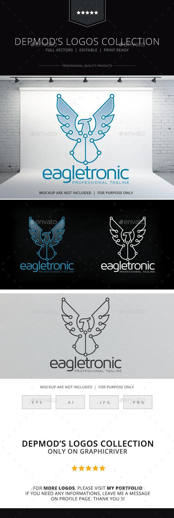 Eagletronic Logo - Animals Logo Templates