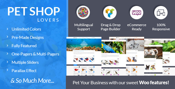 Pet Shop Lovers – Woo/eCommerce WP Theme