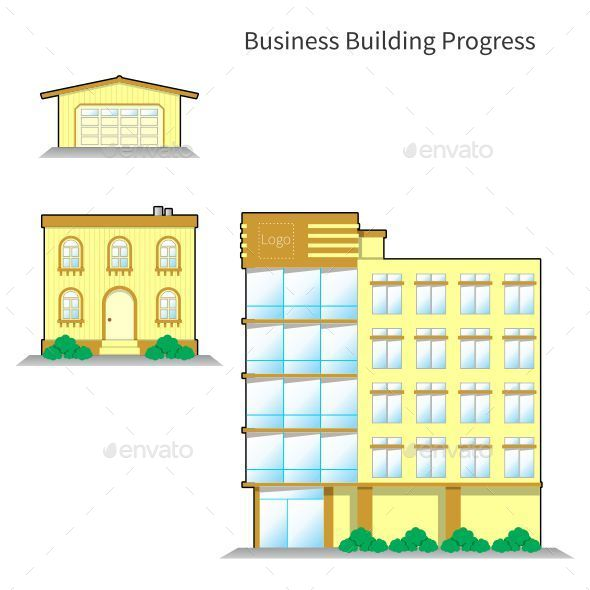 Business Building Progress - Buildings Objects
