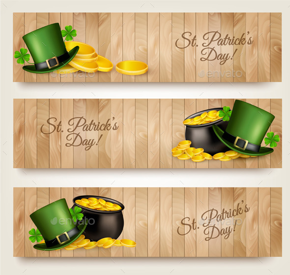 Three Saint Patricks Day  - Seasons/Holidays Conceptual