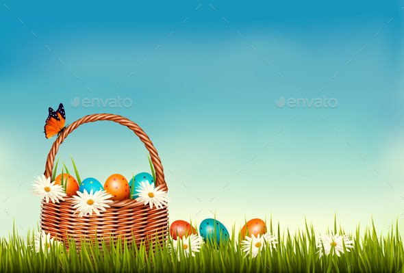 Spring Easter Background  - Seasons/Holidays Conceptual