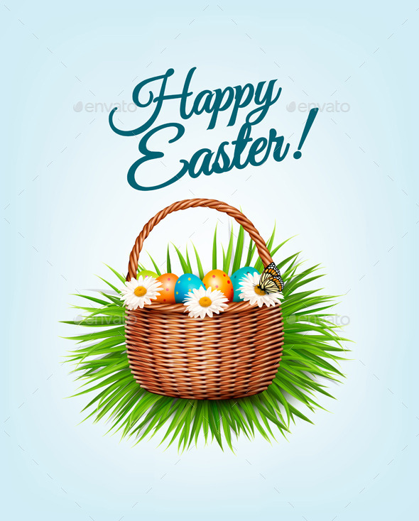 Happy Easter Background. - Seasons/Holidays Conceptual