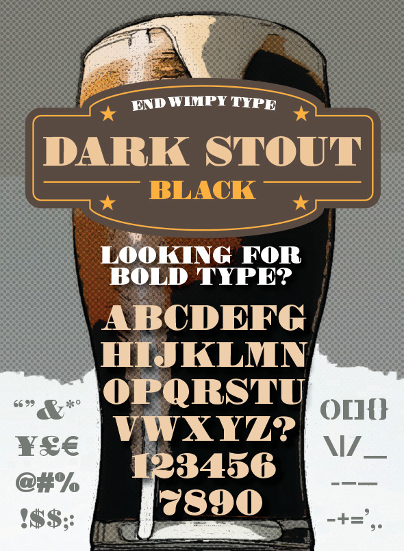 Dark Stout Typeface - Serif Fonts