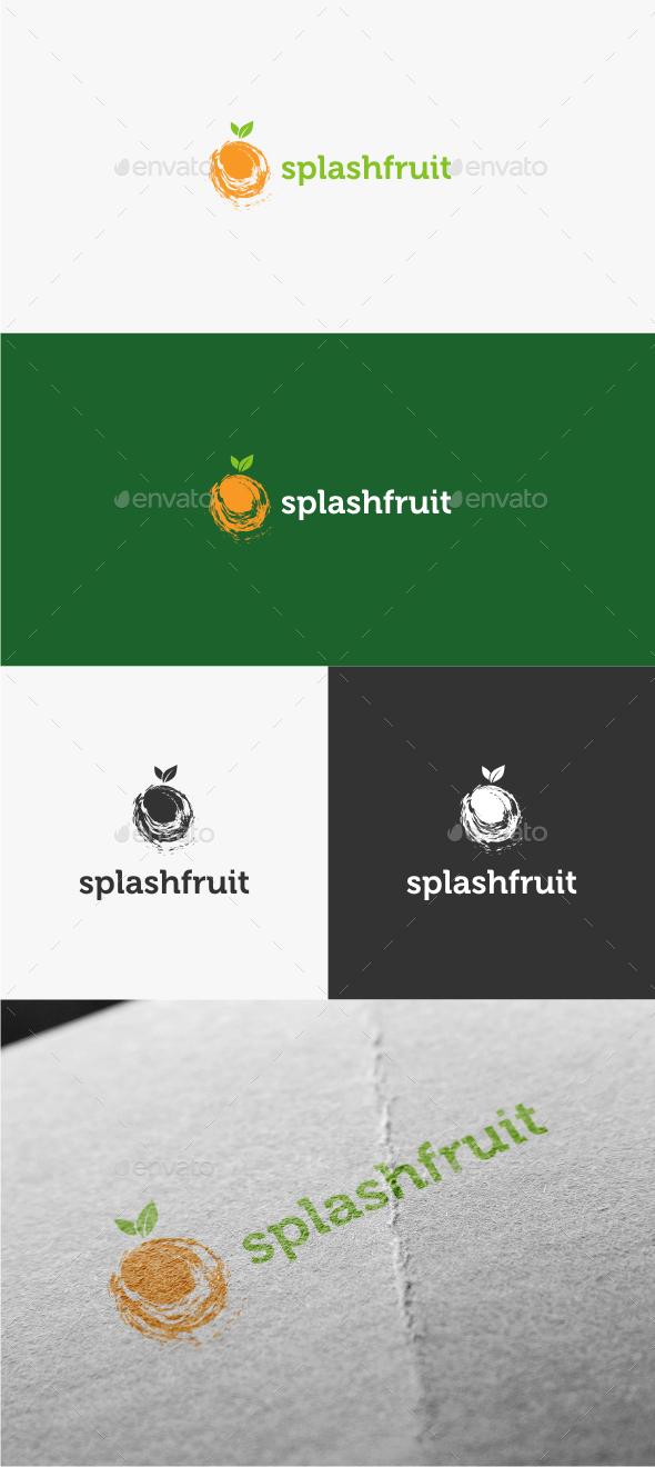Splash Fruit - Logo Template - Food Logo Templates