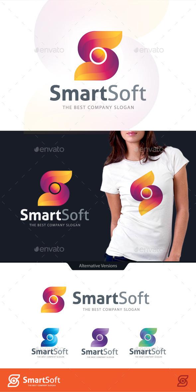 Smart Software Letter S Logo - Letters Logo Templates