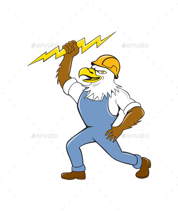 Bald Eagle Electrician  - Animals Characters