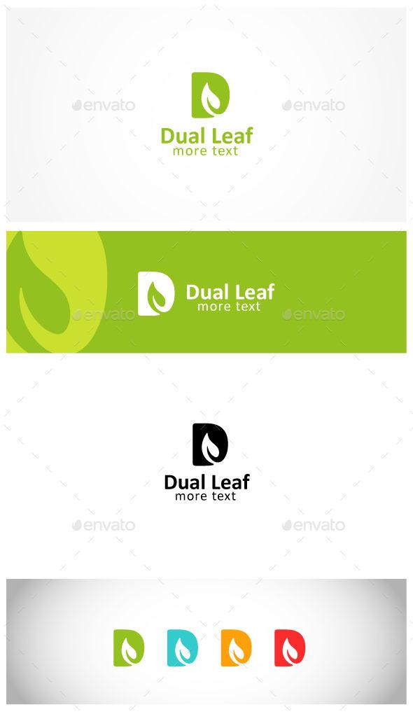 Leaf  Letter D Logo - Letters Logo Templates