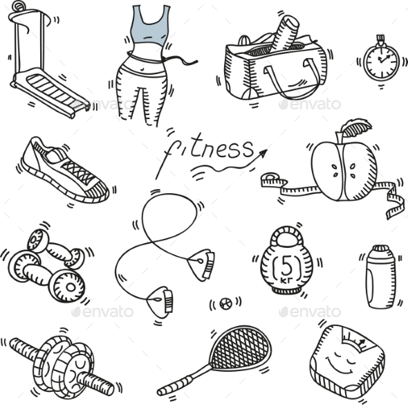 Fitness and Sport Icons - Sports/Activity Conceptual