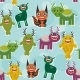 Funny Monsters Set - GraphicRiver Item for Sale